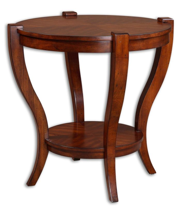 Uttermost 24142 Bergman End Table Classic Cherry Furniture End Tables