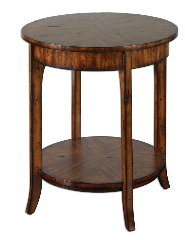Uttermost 24228 Carmel Lamp Table Natural Wood Furniture End Tables