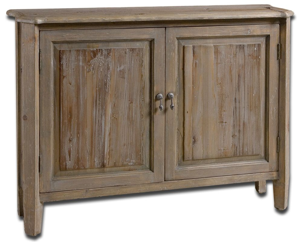 Uttermost 24244 Altair Console Cabinet Natural Wood Furniture Cabinets