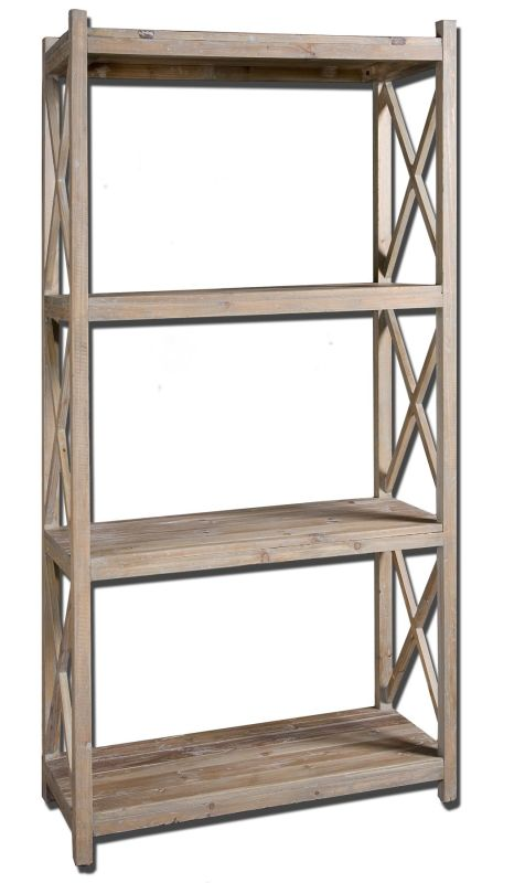 Uttermost 24248 Stratford Etagere Natural Wood Furniture Shelving