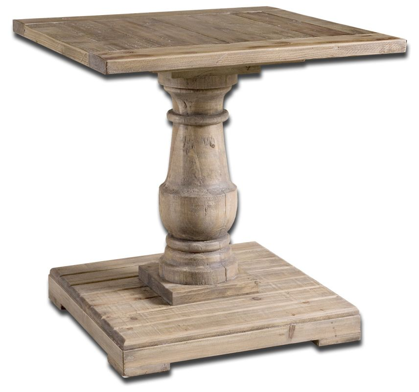 Uttermost 24252 Stratford End Table Natural Wood Furniture End Tables