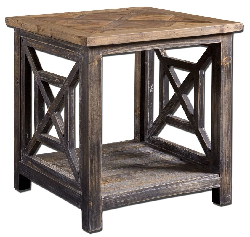Uttermost 24263 Spiro End Table Natural Wood Furniture End Tables