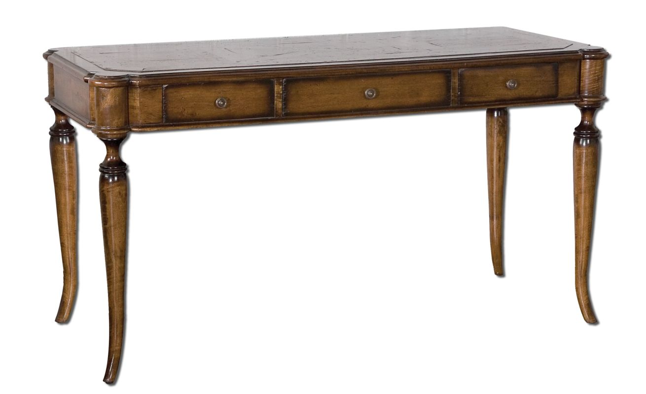 Uttermost 25574 Colter Writing Desk Honey-Stained Mango Furniture