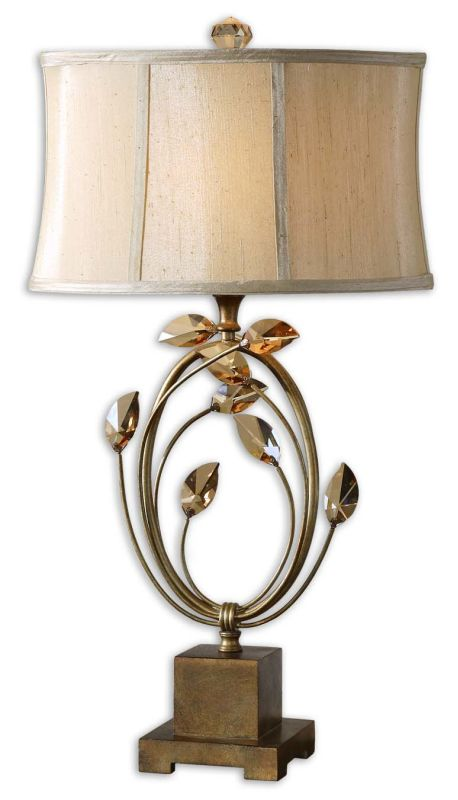 Uttermost 26337-1 Alenya Lamp Burnished Gold Lamps