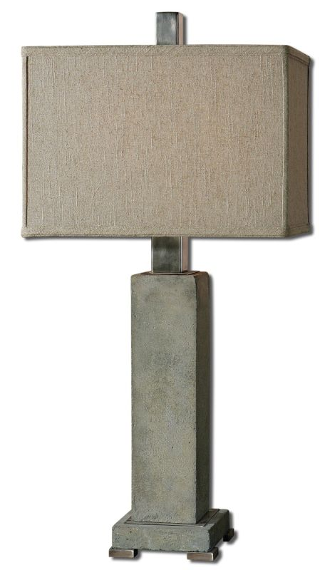 Uttermost 26543-1 Risto Table Lamp Antiqued Brushed Aluminum Lamps