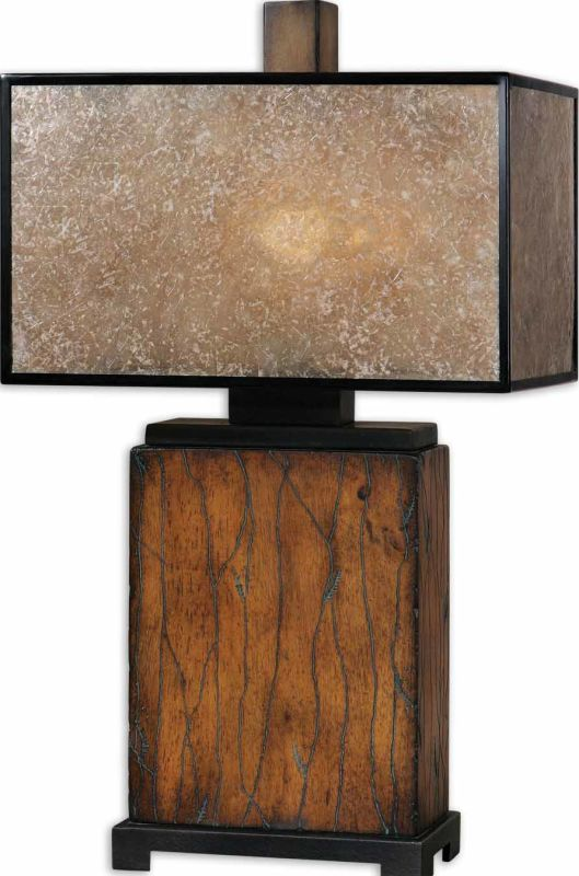 Uttermost 26757-1 Sitka Lamp Rustic Mahogany Lamps
