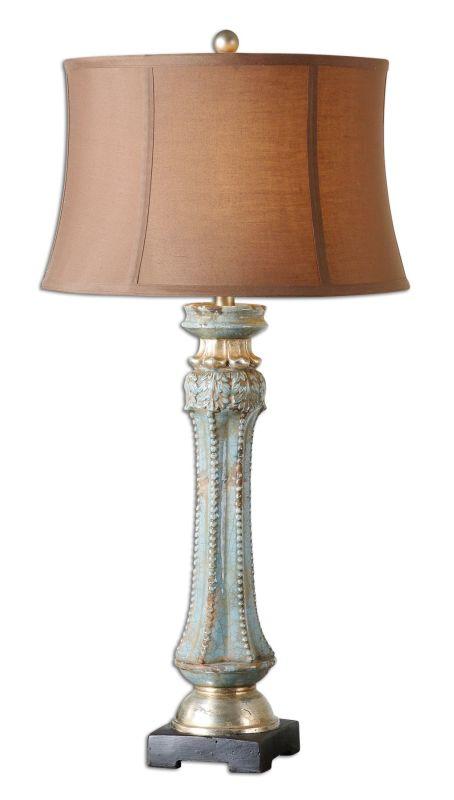 Uttermost 26822 Deniz Blue Lamp Crackled Blue Lamps