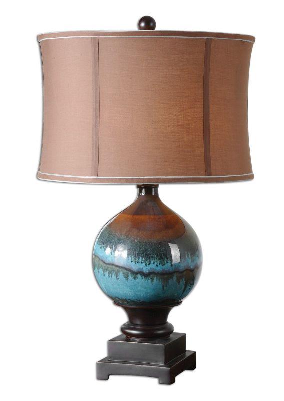Uttermost 26825-1 Padula Lamp Glossy Blue Lamps