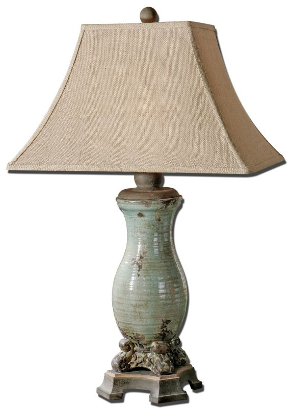 Uttermost 27395 Andelle Lamp Crackled Blue Lamps