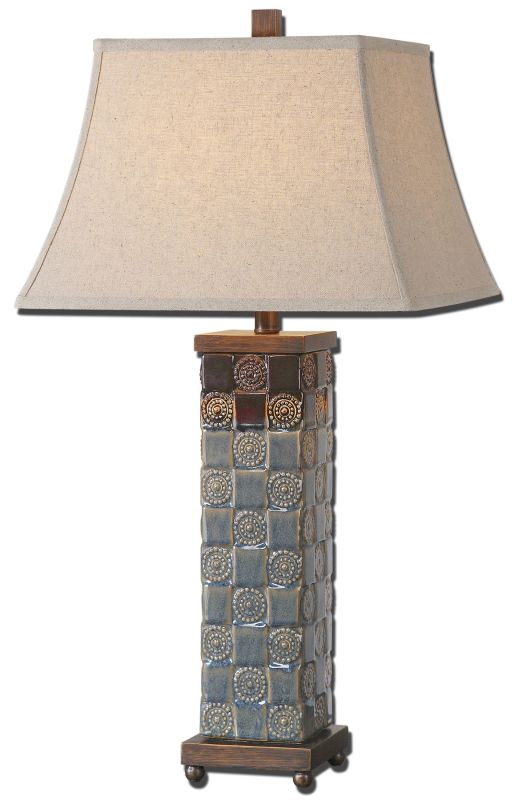 Uttermost 27398 Mincio Lamp Distressed Dark Blue Lamps