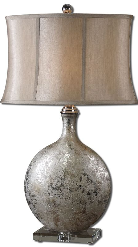 Uttermost 27428 Navelli Table Lamp Metallic Silver Lamps