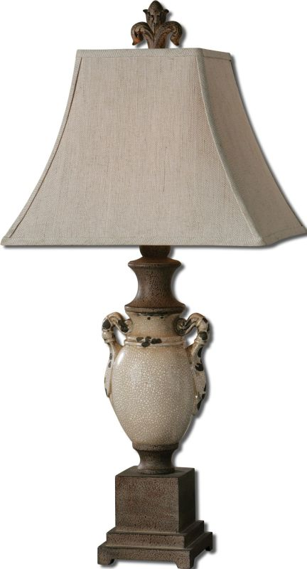 Uttermost 27437 Francavilla Ivory Table Lamp Distressed Antiqued