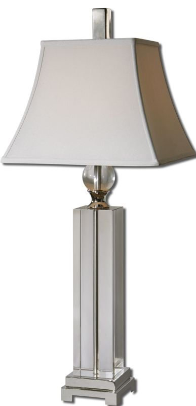 Uttermost 27438 Sapinero Table Lamp Polished Nickel Lamps