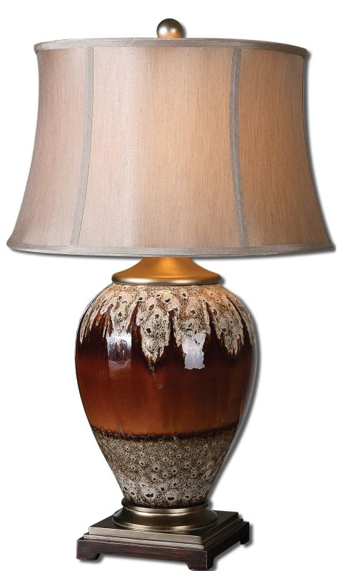 Uttermost 27450 Alluvioni Table Lamp Glossy Rust Bronze Lamps