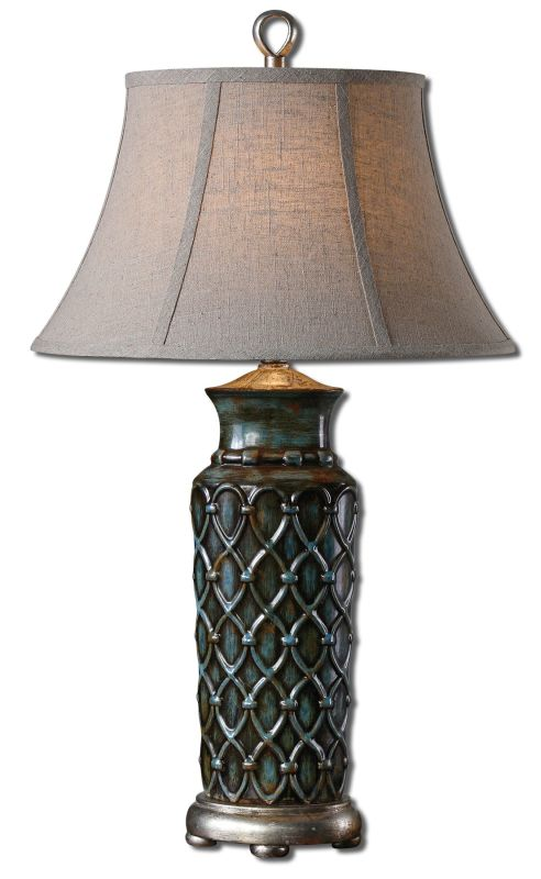 Uttermost 27455 Valenza Table Lamp Burnished Blue Wash Lamps