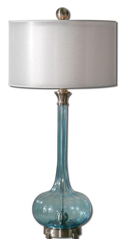 Uttermost 27482-1 Junelle Table Lamp Fluted Blue Lamps