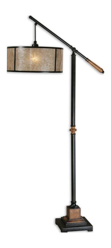 Uttermost 28584-1 Floor Lamp from the Sitka Collection Rustic Mahogany