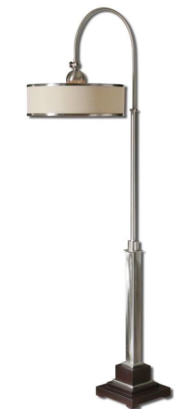 Uttermost 28585-1 Amerigo Floor Lamp Brushed Aluminum Lamps Gooseneck