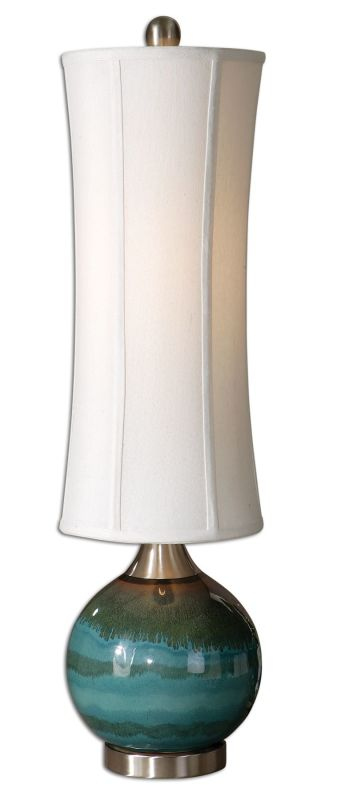 Uttermost 29287-1 Atherton Lamp Glossy Blue Lamps