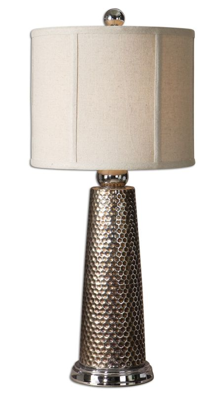 Uttermost 29288-1 Nenana Lamp Brushed Nickel Lamps