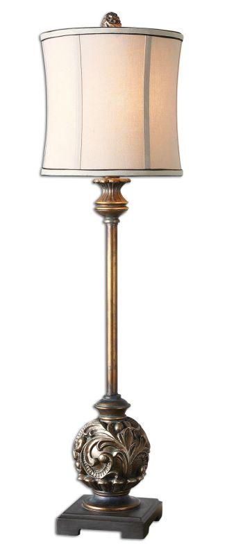 Uttermost 29291-1 Shahla Bronze Lamp Aged Golden Bronze Lamps Buffet