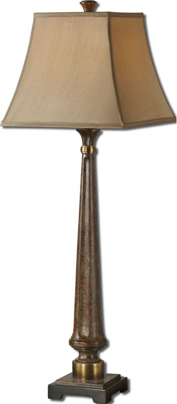 Uttermost 29315 Rittana Floor Lamp Distressed Burnt Beige Lamps Buffet