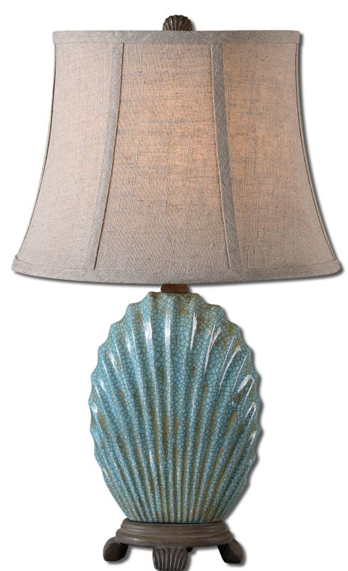 Uttermost 29321 Seashell Table Lamp Crackled Blue Lamps