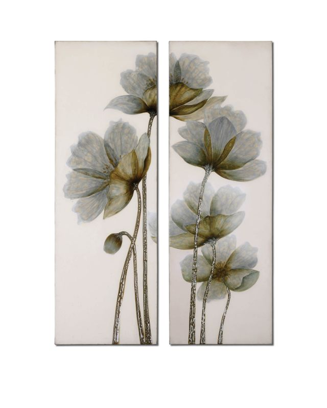 Uttermost 34201 Floral Glow I Ii Set of 2 Wall Art Artwork