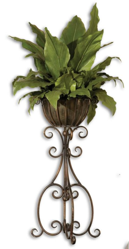 Uttermost 60090 Costa Del Sol Potted Greenery Green / Copper Brown