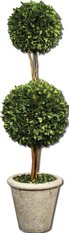 Uttermost 60106 Preserved Boxwood Two Sphere Topiary Accessory
