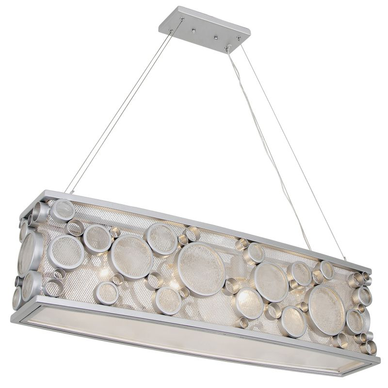 "Varaluz 165N04 4 Light 36"" Wide Recycled Fascination Linear Chandelier"