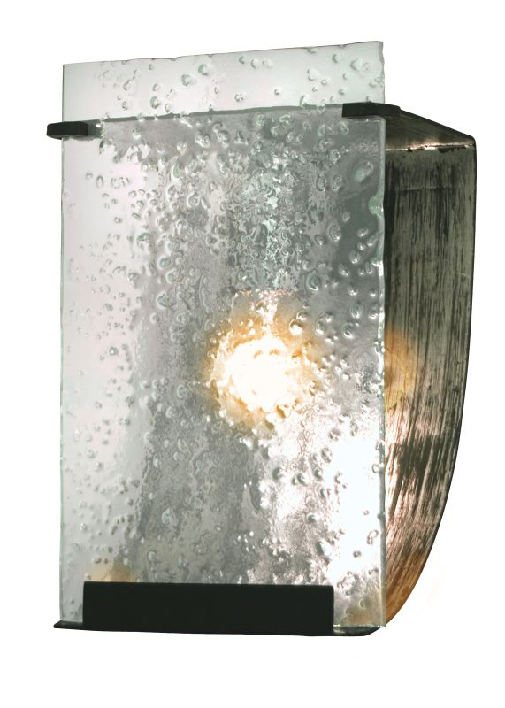 Varaluz 160B01 Rain 1 Light Vanity Rainy Night With Recycled Hand