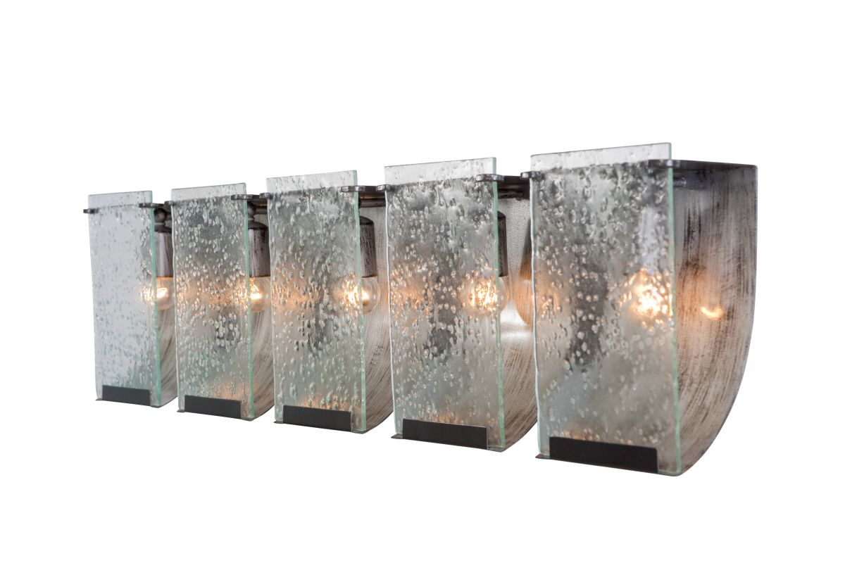 Varaluz 160B05 Rain 5 Light Vanity Rainy Night with Recycled Seedy
