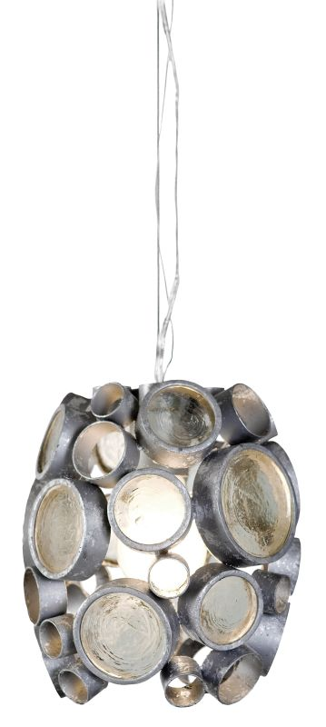 Varaluz 165M01 Fascination 1 Light Hand Forged Recycled Steel Pendant