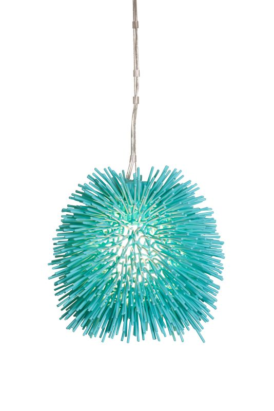 "Varaluz 169M01 Urchin Single Light 9"" Wide Recycled Material Abstract"