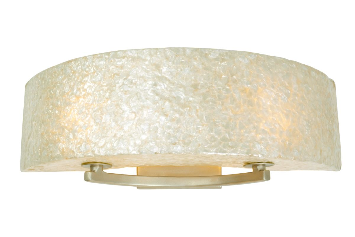 "Varaluz 173B02 2 Light 23"" Wide Sustainable Shell Radius Bath Fixture"
