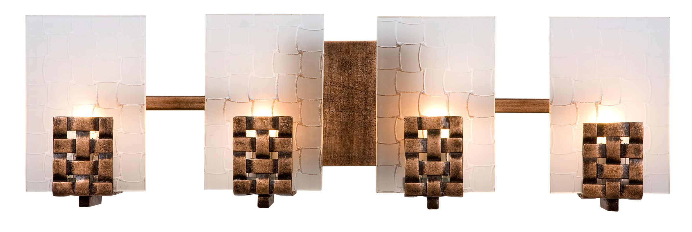 Varaluz 180B04 Blackened Copper With Frosted Plate Glass