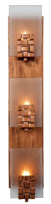 Varaluz 180W03 Three Light Vertical Wall Sconce from the Dreamweaver