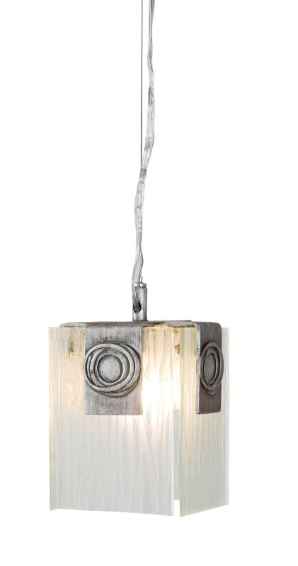 Varaluz 182m01 Blackened Silver With Recycled Glass 1