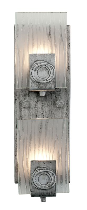 Varaluz 182W02 2 Light Recycled Vertical Wall Sconce from the Polar Sale $209.00 ITEM: bci1334852 ID#:182W02 UPC: 815253012546 :