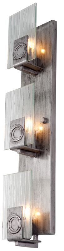 Varaluz 182W03 3 Light Recycled Vertical Wall Sconce from the Polar