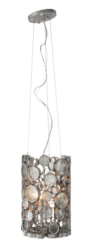 Varaluz 193P03 Fascination 3 Light Hand Forged Recycled Steel Pendant