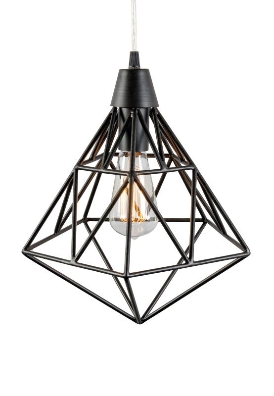 "Varaluz 236P01 Facet Single Light 11"" Wide Cage Single Pendant Forged"
