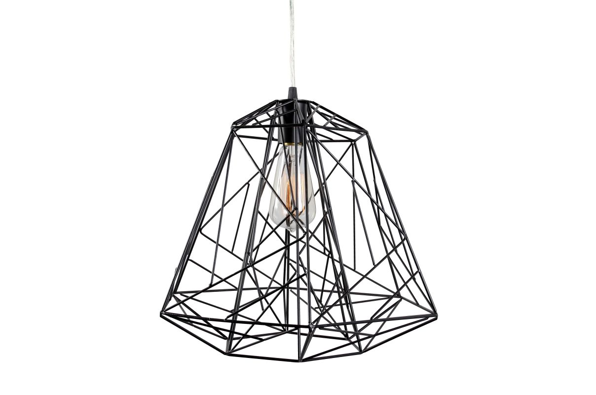 Varaluz 237P01 Wright Stuff 1 Light Mid-Sized Pendant Black Indoor