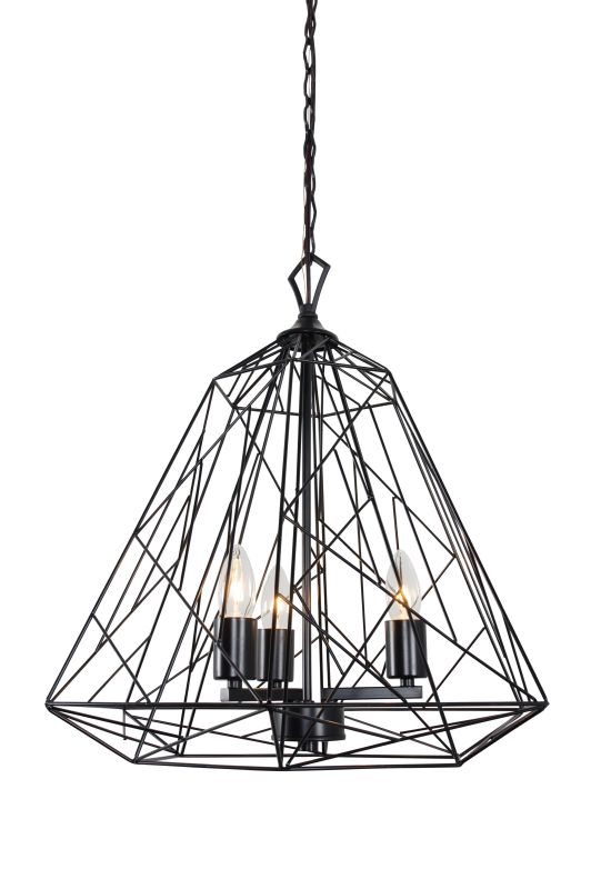 Varaluz 237P03 Wright Stuff 3 Light Pendant Black Indoor Lighting