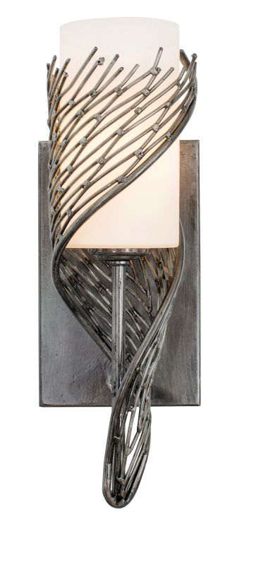 Varaluz 240K01 Flow 1 Light Wrapped Recycled Steel Wall Sconce Steel