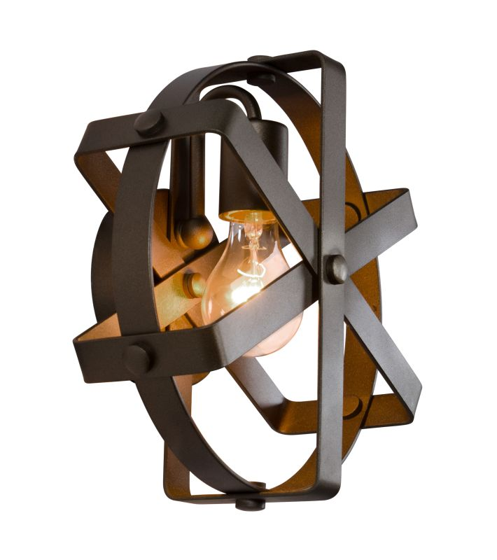 Varaluz 242W01 Reel 1 Light Recycled Steel Wall Sconce Rustic Bronze