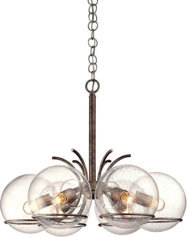 Varaluz 243C06 Watson 6 Light 1 Tier Chandelier Silver Age Indoor