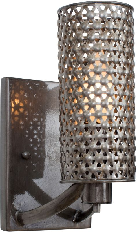 Varaluz 244B01 Casablanca 1 Light Hand Forged Recycled Steel Wall