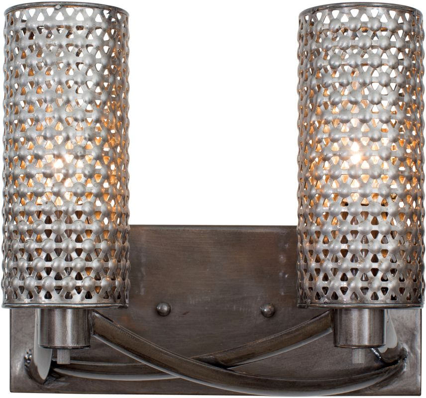 Varaluz 244B02 Casablanca 2 Light Hand Forged Recycled Steel Wall